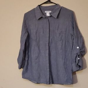 Liz Claiborne blue button up shirt XL
